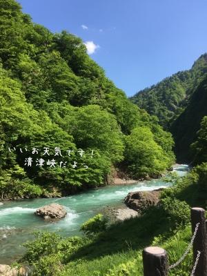 ここは清津峡だよ
