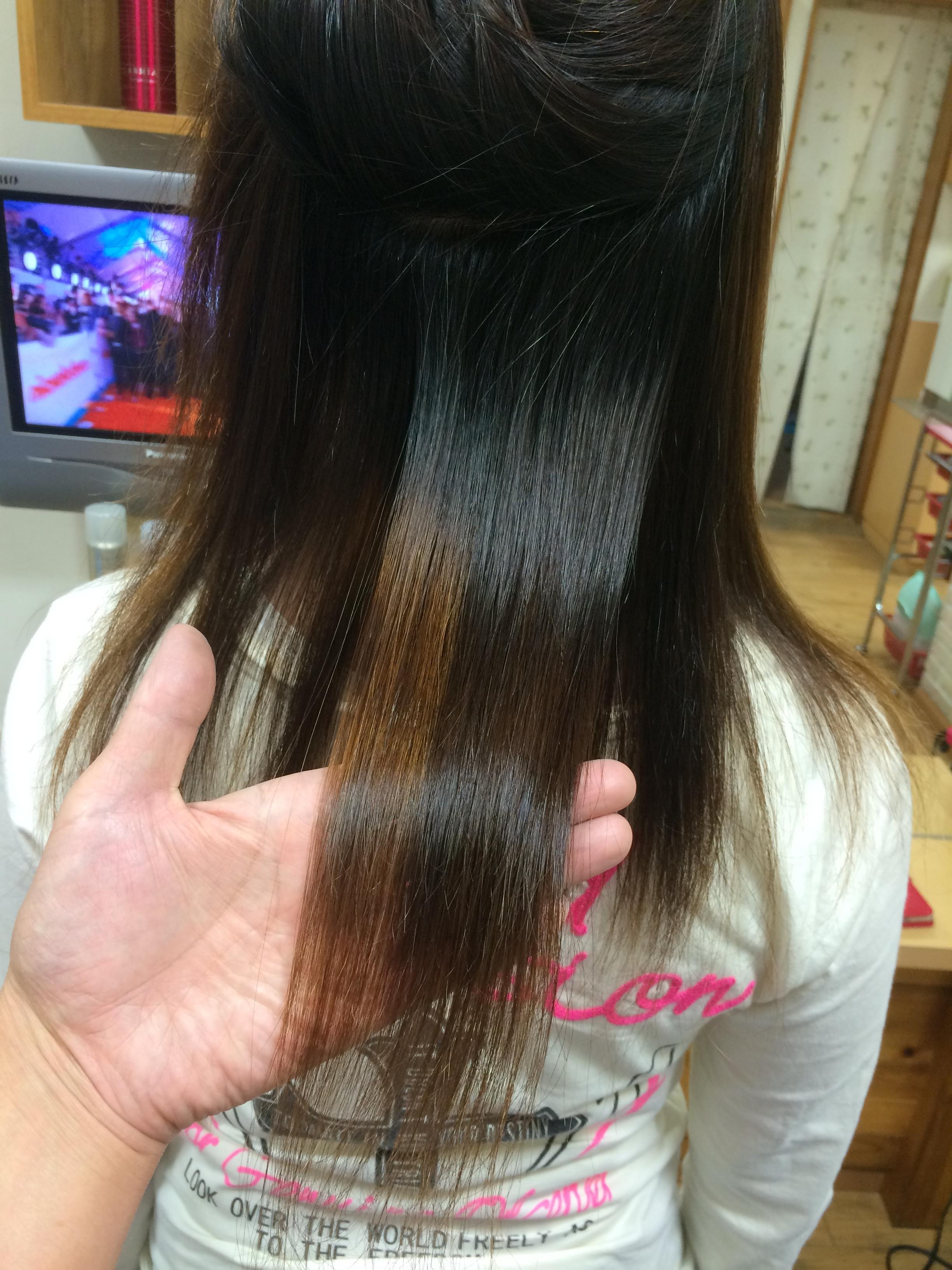 ブリーチ毛へ酸性縮毛矯正