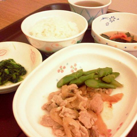 2016年10月30日(日) 夜ご飯 「豚肉ショウガ焼き」(・肉・)ノシ