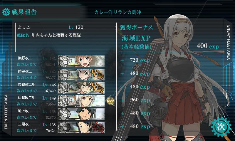 熊野改二任務4-5戦果