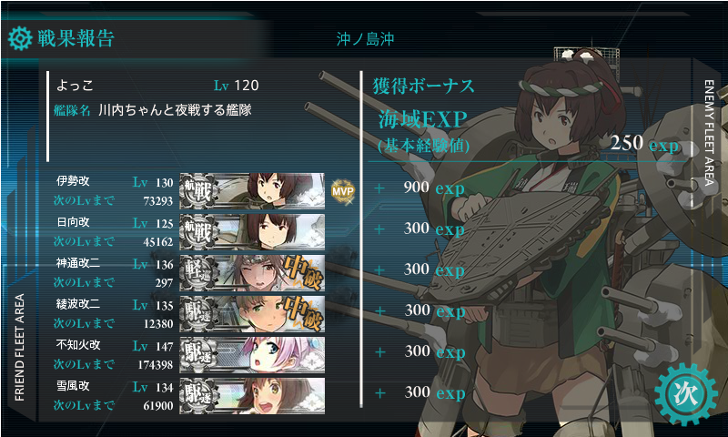 四航戦任務2-5戦果