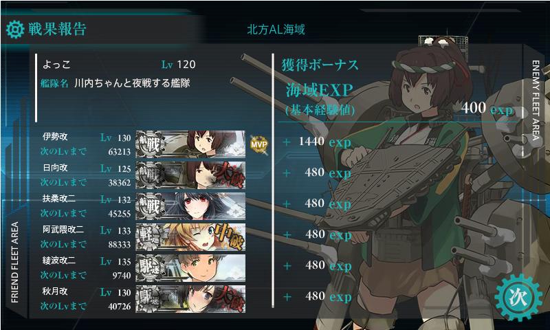 四航戦任務3-5戦果