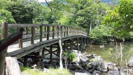 湯ノ湖に架かる橋