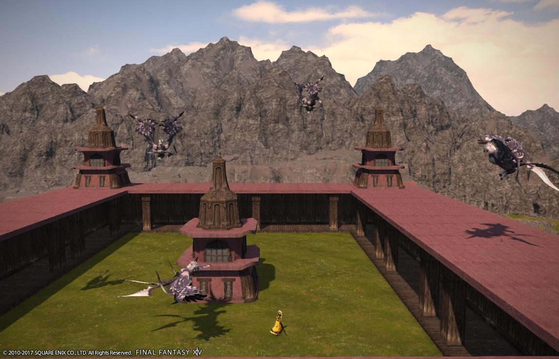 でるひーのゲームSS日記 【FF14】アジム・カート明けの玉座の屋上