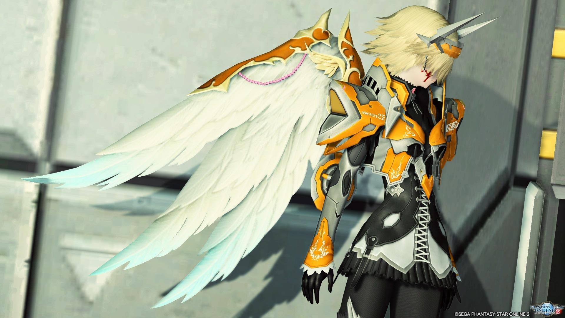 鎧装の翼 白 2