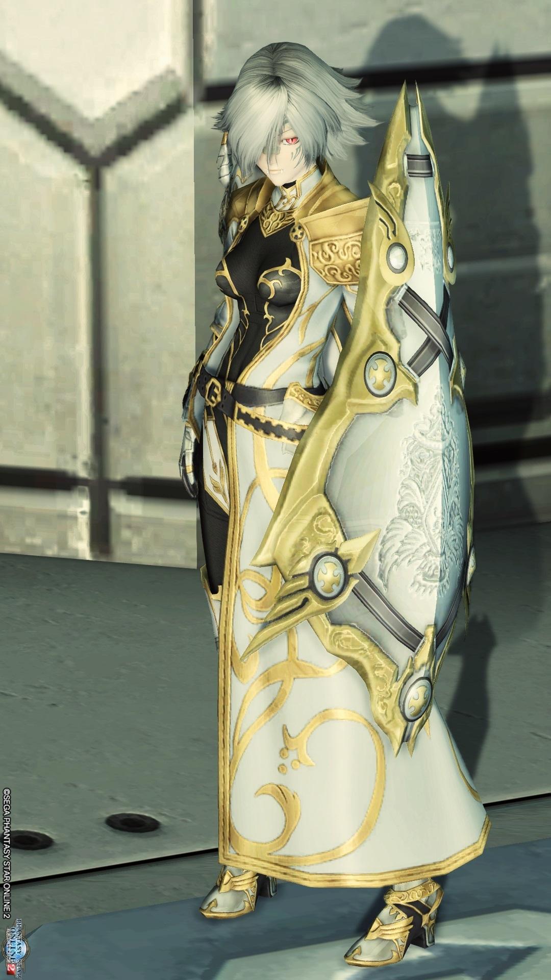 アリサの戦装束 クエントの飾り盾 白