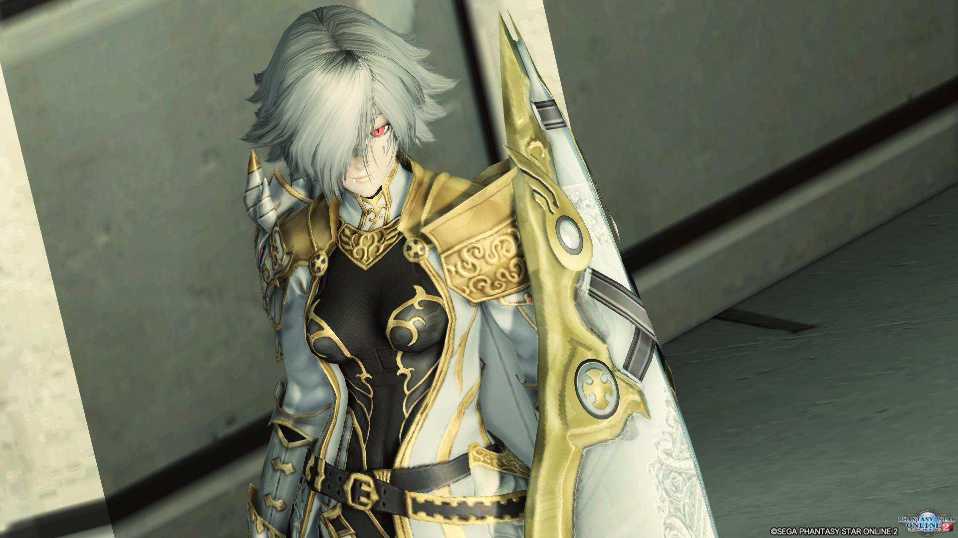 アリサの戦装束に盾を装備させました