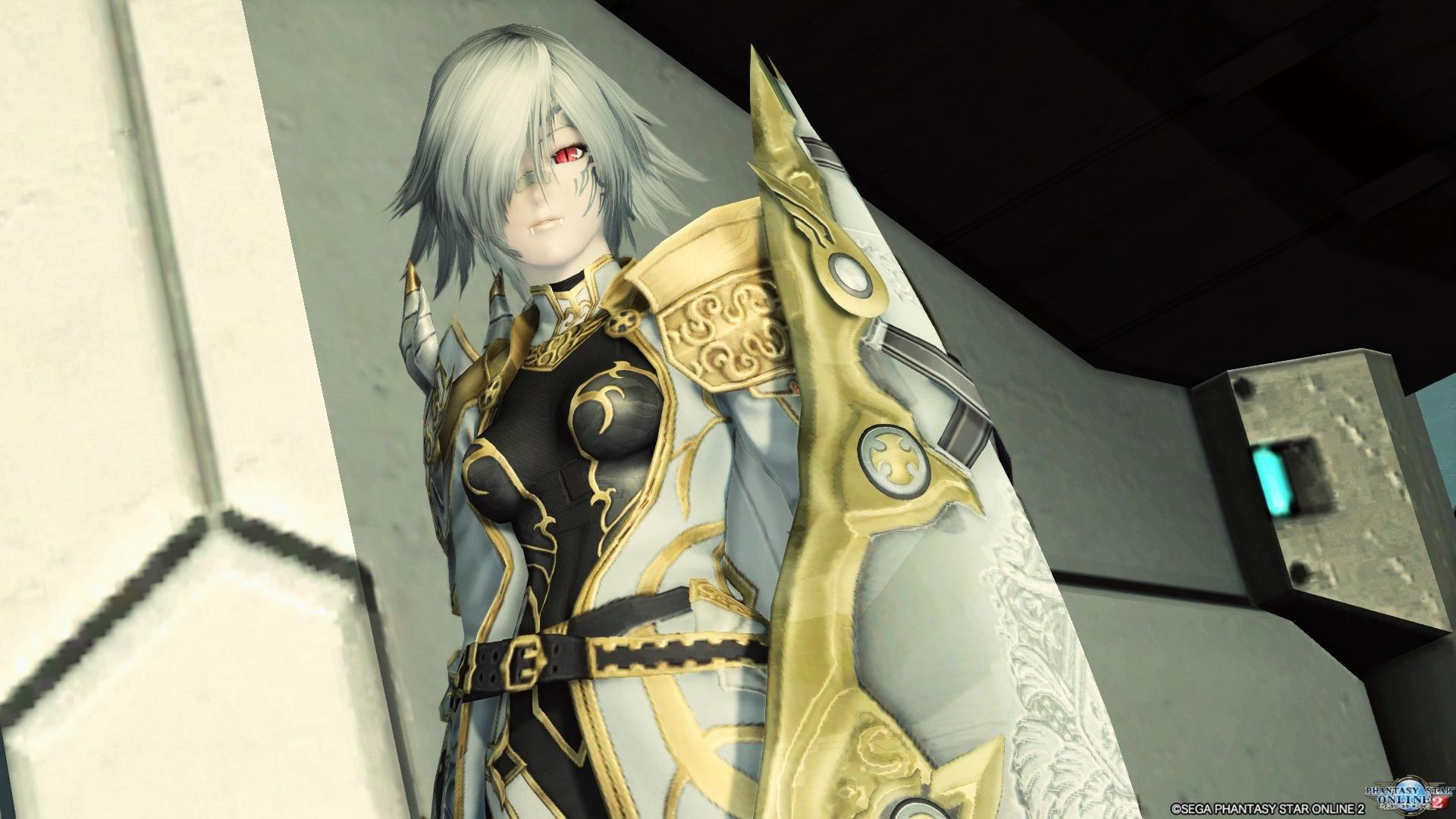 アリサの戦装束 胸をデカくしたのは失敗だったような気がします