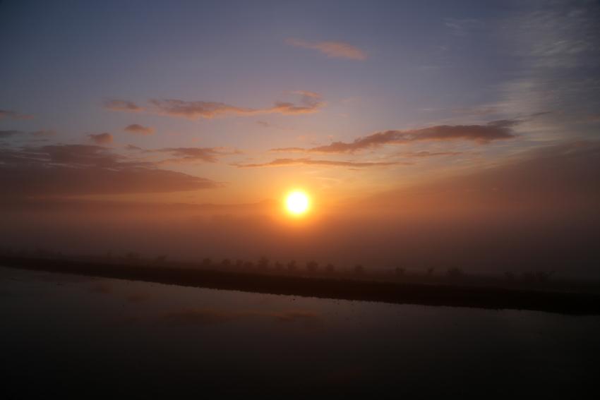 20170517朝霧からの日の出