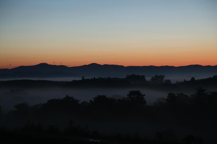 20170529朝靄と朝焼け