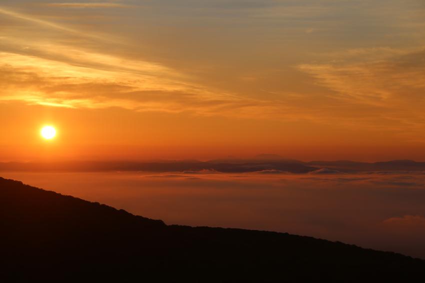 20170618朝陽に染まる雲海