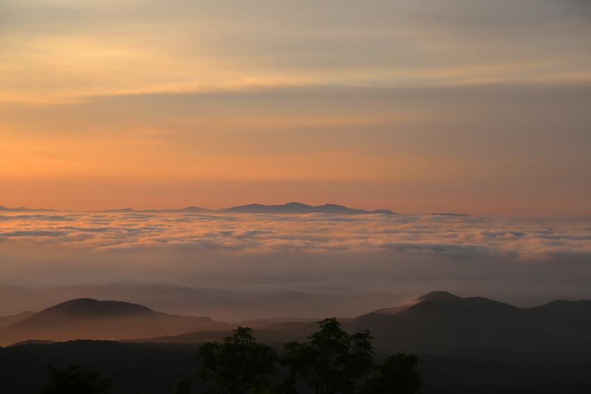 20170618朝陽に染まる雲海2
