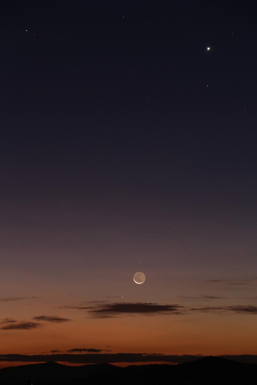 20170919早朝の惑星・月の共演