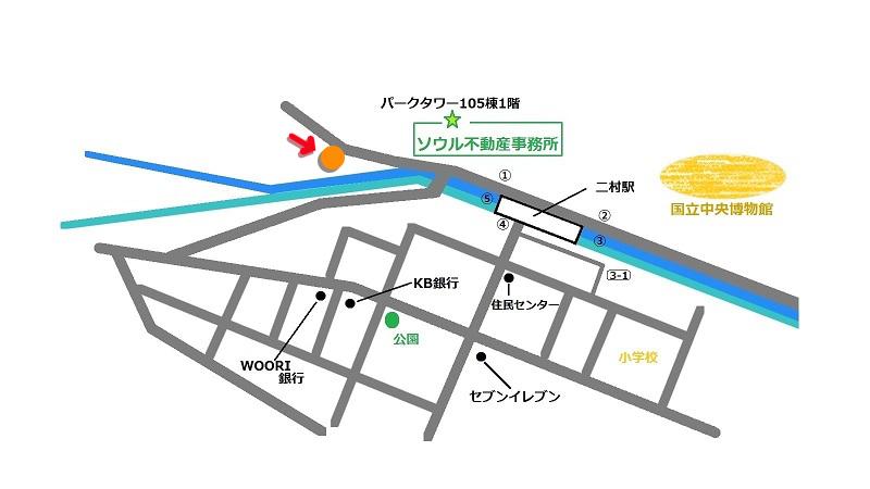 韓国 イチョンドンケーキ PATISSIER GARDEN 地図
