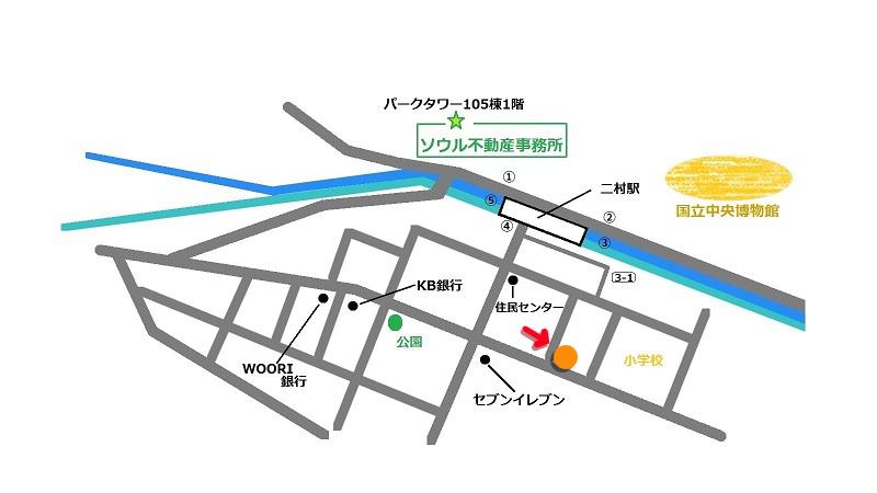 韓国 イチョンドン グルメ 鈴蘭亭 地図