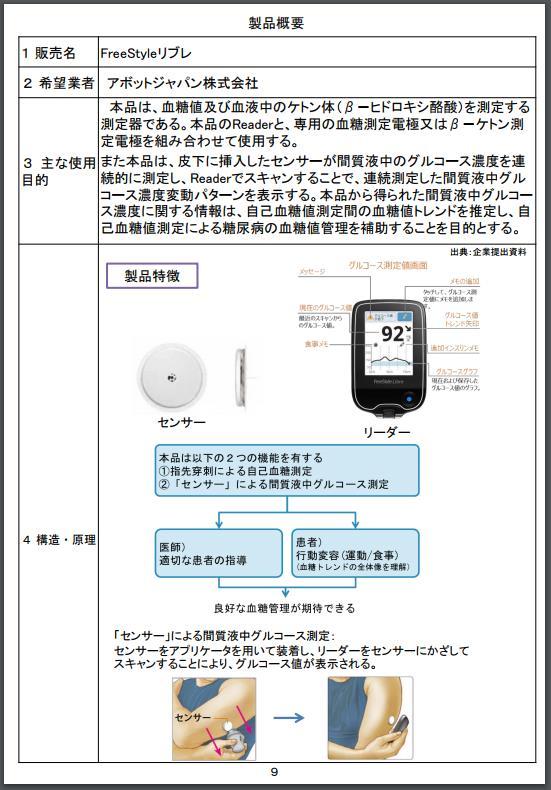 リブレ保険適用決定区分及び価格(案)20170828中医協3