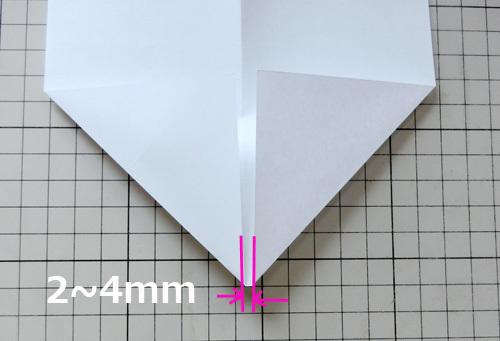 例の折り紙機の折り方、その4!