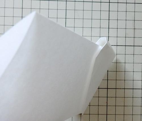 例の折り紙機の折り方、その11!