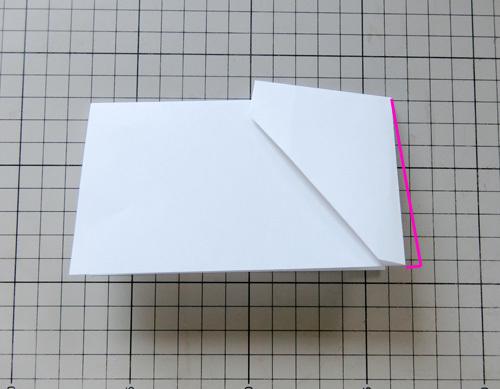 例の折り紙機の折り方、その8!