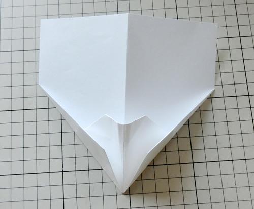 例の折り紙機の折り方。 その15!
