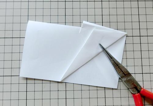 例の折り紙機の折り方。 その14!