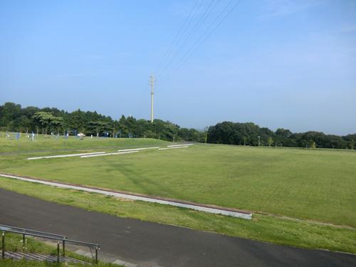 百花台公園芝生広場です。 更に右へ→