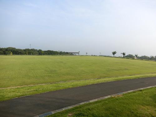 百花台公園芝生広場です。 こっちが海側ですね。