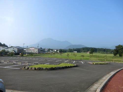 普賢岳の右側へ→