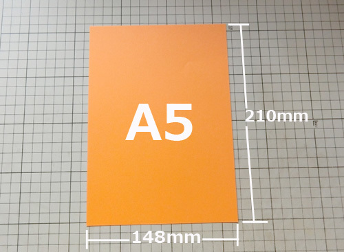 A5サイズは・・・、