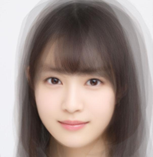 乃木坂46 3期生の顔を平均化してみた