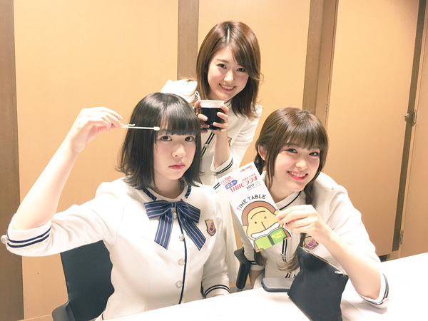 樋口日奈、松村沙友理、渡辺みり愛