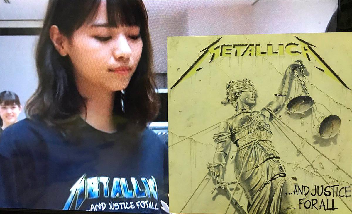 西野七瀬 Metallica AND JUSTICE FOR ALL Tシャツ