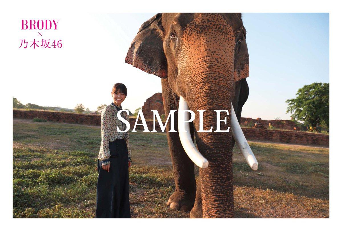 BRODY 2017年8月号 けやき坂46ver. タイで撮影した乃木坂46ポストカード