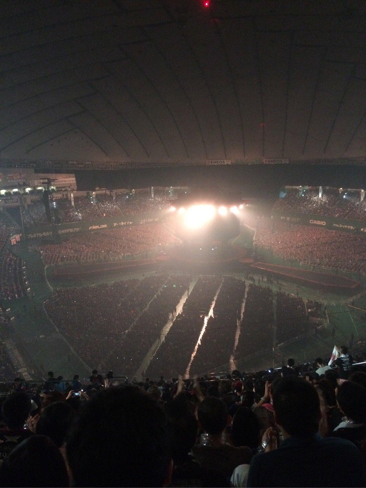 東京ドーム最上段からのステージの見え方