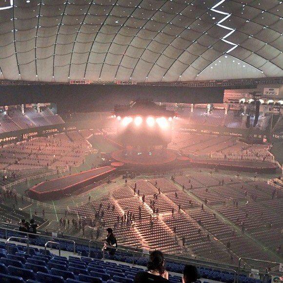 東京ドーム最上段からのステージの見え方2