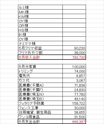 5月収支0622