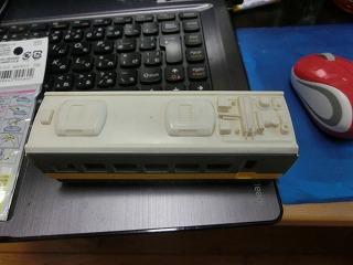 部品複製に使用したプラレールE653系中間車
