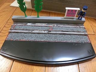 マスキングを剥がした「若桜鉄道 C12-167用 展示ケース」