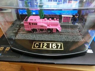 改良が終わり完成した「若桜鉄道 C12-167用 展示ケース」