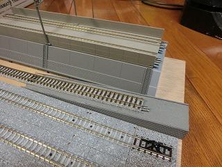 高架線との連絡線スロープ部のアップ