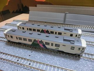 パーツ取付後の「宮沢模型 キハ40-500(左沢線)セット」