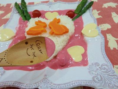 ままのピンクカレー2
