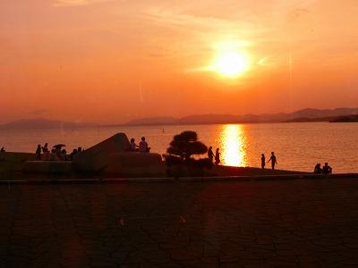 2017年8月宍道湖の夕陽