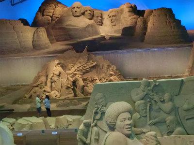砂の美術館上からアメリカの歴代大統領