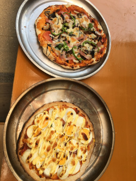 ピザ焼き職員との交流会29年度4