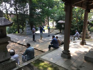 神社7月末の大掃除5