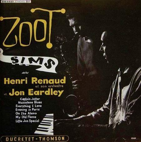 Zoot Sims avec Henri Renaud et son orchestre et Jon Eardley Ducretet-Thomson 250 V 023