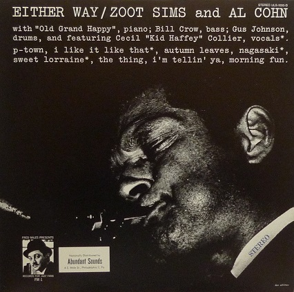 Zoot Sims And Al Cohn Either Way Fred Miles Presents FM-1