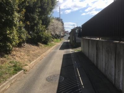 堀であったろう道路