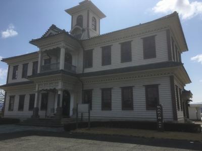 桑折陣屋脇に建てられた旧伊達郡役所